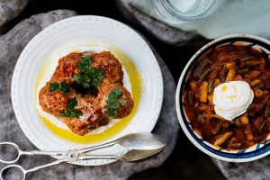 Hot Mezze - Sujuk Meatballs and Baalbek style Loubyeh